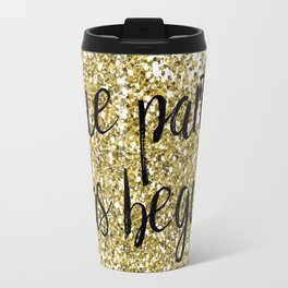The party has begun - golden jazz Travel Mug