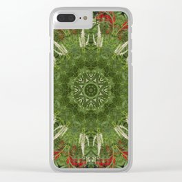 Cardinal flower and Culver's root kaleidoscope Clear iPhone Case