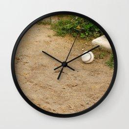 Lone Baseball Wall Clock