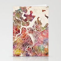 boston map Stationery Cards featuring Boston map by Map Map Maps