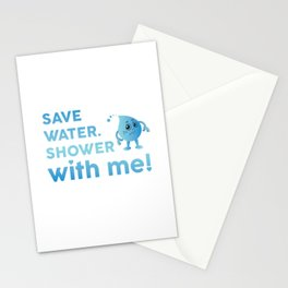 Save Water Shower With Me Save The Earth Day Shirt Stationery Cards