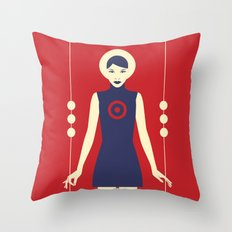 Isolde Red Throw Pillow