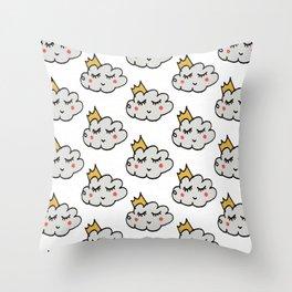 April showers king cloud White #nursery Throw Pillow