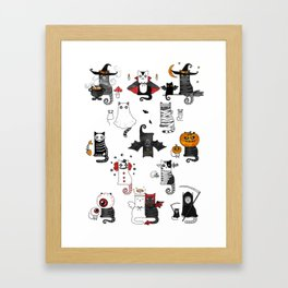 Halloween Cats In Terrible Imagery Framed Art Print
