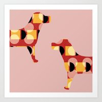 dogs Art Prints featuring Dogs by Yasmina Baggili