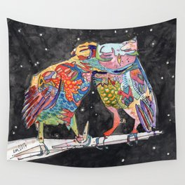 Magic Owl Lovers Wall Tapestry