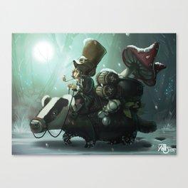 gnomes and badger Canvas Print