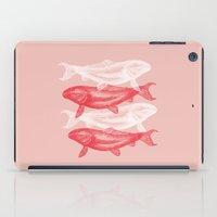 peach iPad Cases featuring PEACH by DeerKat