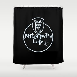 Nite Owl's Cafe Shower Curtain