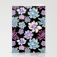 succulents Stationery Cards featuring Succulents by Miranda Montes