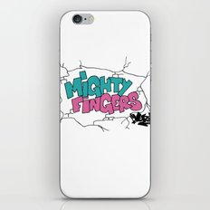 mighty fingers iPhone & iPod Skin