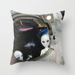 One Small Toke For Man Throw Pillow