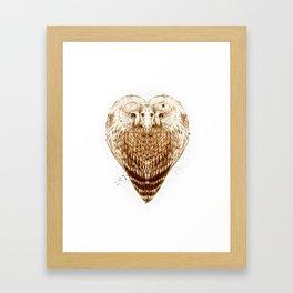 Owl Heart Framed Art Print