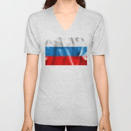 Russian Federation Flag Unisex V-Neck
