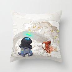 Consumption Throw Pillow