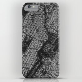 Central Park New York 1947 vintage old map for office decoration iPhone Case