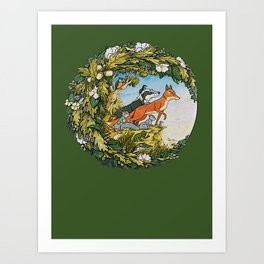 Animals Of Farthing Wood Art Print