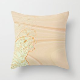 Ambrosia Wave Fade Throw Pillow