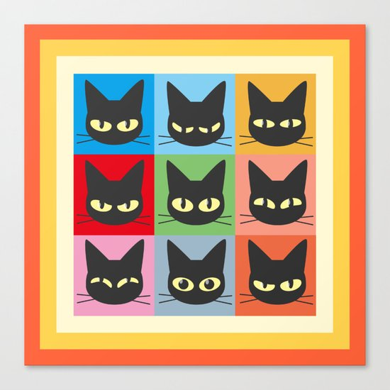 Nine emotions Canvas Print