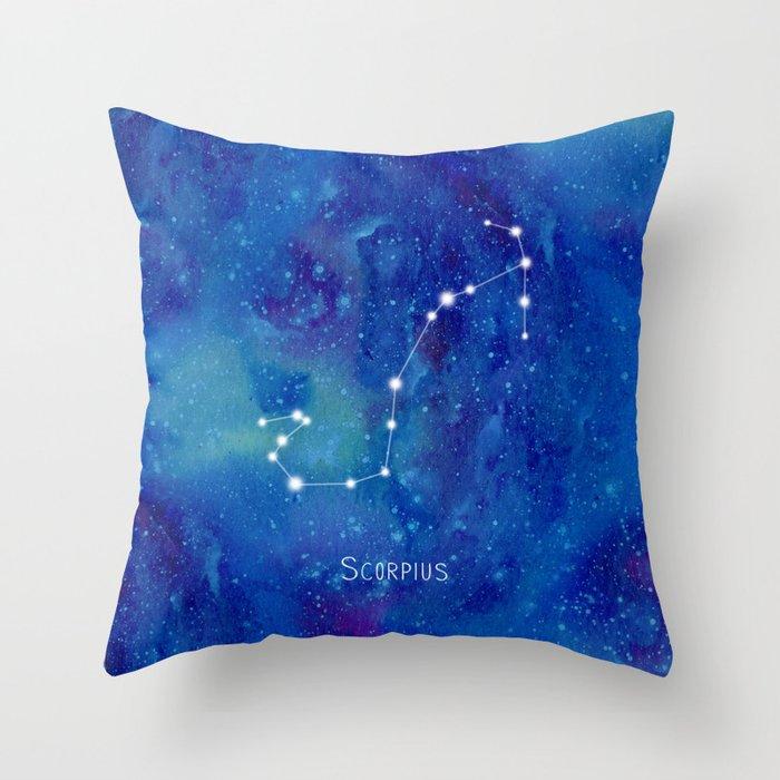 Constellation Scorpius Throw Pillow