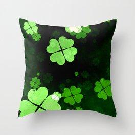 Shamrocks  St. Patrick's Day Throw Pillow