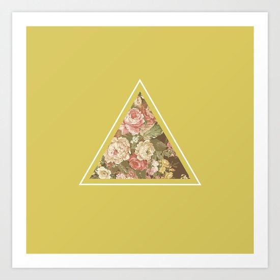 Floribus Trianguli Art Print