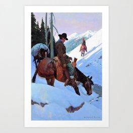 12,000pixel-500dpi - Going In, The Bear Hunters - William Herbert Dunton Art Print