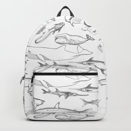 The deep Sea- Whale-Shark,Fish- Ocean Animals Backpack