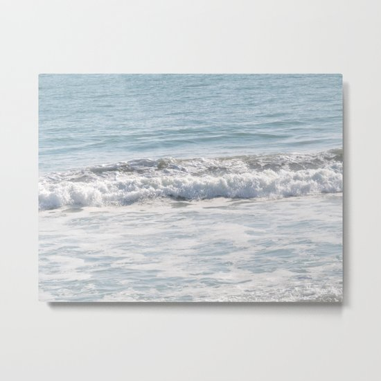 TEXTURES -- Surf   at San Clemente Metal Print