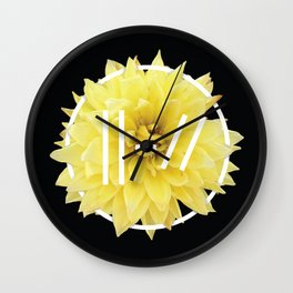 Trench Yellow Flower Wall Clock