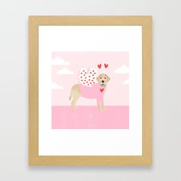 Yellow Lab valentines day labrador retriever dog breed must have gifts retrievers Framed Art Print