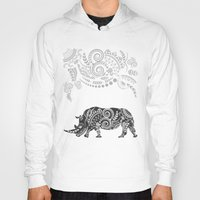 rhino Hoodies featuring Rhino by famenxt