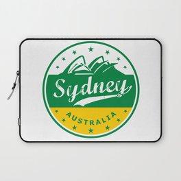 Sydney City, Australia, circle, green yellow Laptop Sleeve