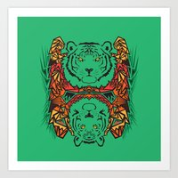 tigers Art Prints featuring Tigers by Ornaart