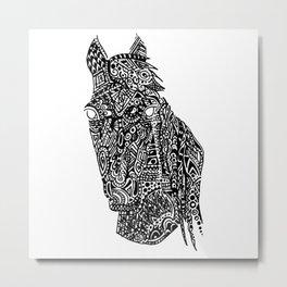 Complex Horse Metal Print