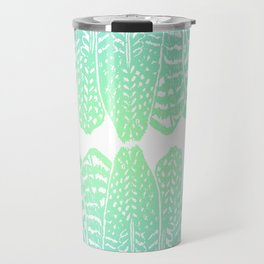 TRIBAL FEATHERS - SEAFOAM Travel Mug