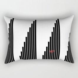 STRIPED SYMPHONY - Black and White #minimal #art #design #kirovair #buyart #decor #home Rectangular Pillow