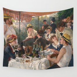 Auguste Renoir - Luncheon of the Boating Party (Le déjeuner des canotiers) Wall Tapestry