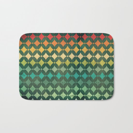 Vintage Rainbow Pattern Bath Mat