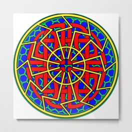 Sun Wheel And Shield Knot Metal Print