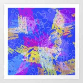 Faint Flowers Art Print
