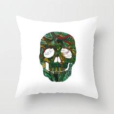 Skull No.7 Motherboard Throw Pillow