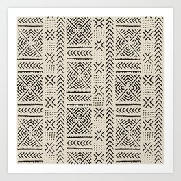 Line Mud Cloth // Bone Art Print