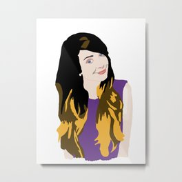 Zoella Digital Drawing Metal Print