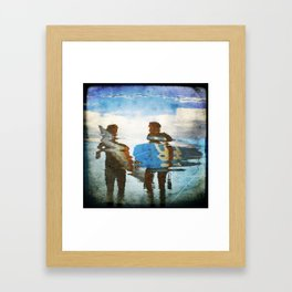 Two surfers Framed Art Print