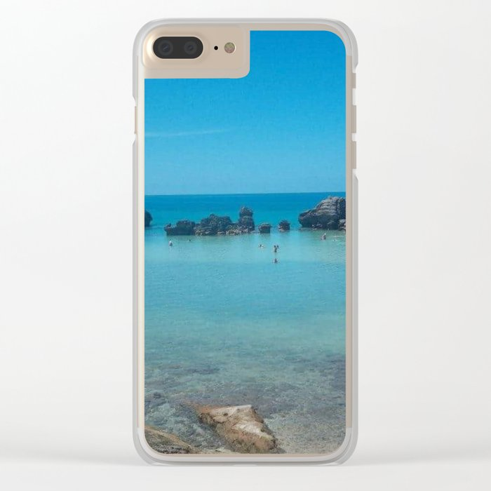 Bermuda Beach 2 Clear iPhone Case
