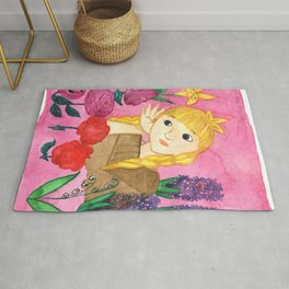 Gerda Listens To The Flowers Rug