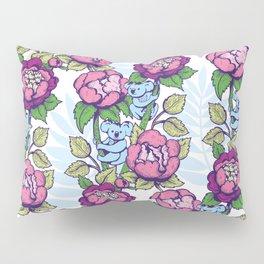 Peony flowers and koalas bears Pillow Sham