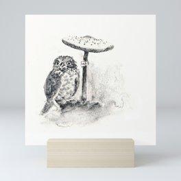 Woodland Owl Mini Art Print