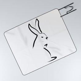 Zen Snow Bunny Picnic Blanket